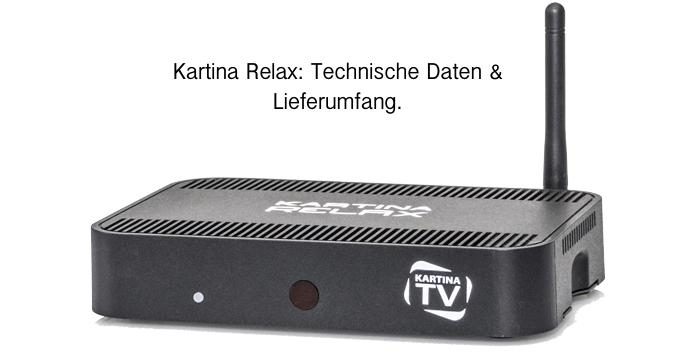 Kartina Relax Set Top Box: Technische Daten
