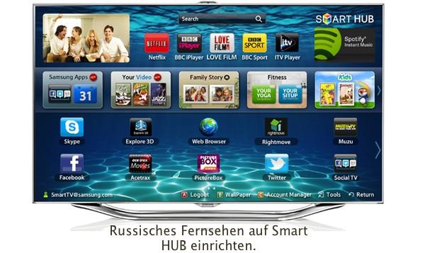 Das Russische Fernsehen auf Smart HUB TV einrichten