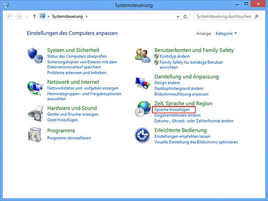 01 zeit sprache region aufrufen - Windows Tastatur auf Russisch umstellen